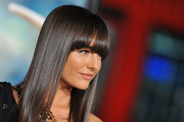 More Pics Of Camilla Belle Long Straight Cut With Bangs 4 Of 9
