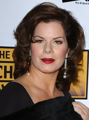 Marcia Gay Harden chose a deep red lipstick for the 10th Annual Critics' Choice Awards.