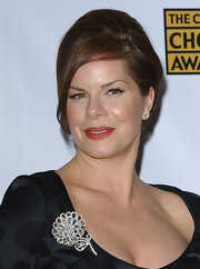 Marcia Gay Harden accessorized her black skirt suit with a diamond flower brooch at the 12th Annual Critics' Choice Awards.