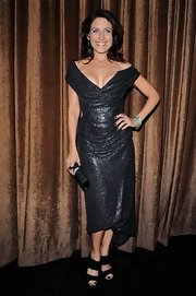 Lisa Edelstein wowed in black patent leather sandals at the Costume Designers Guild Awards.