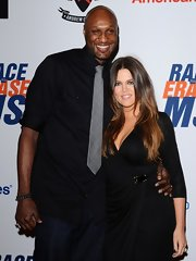 Lamar Odom avoided a too-formal look by rolling up the sleeves of his black button-down during the Race to Erase MS Gala.