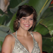 Mandy Moore wore her warm brown locks with lots of layers for a shaggy bob.