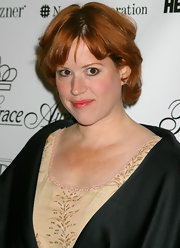 Molly Ringwald kept it simple but charming with curled-out layers.