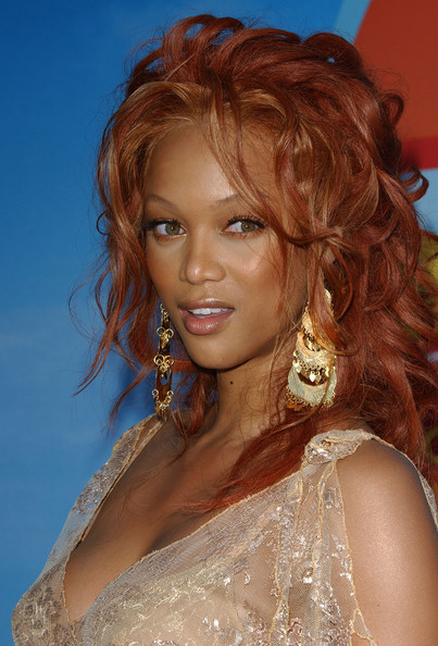More Pics of Tyra Banks Long Curls (1 of 6) - Tyra Banks Lookbook - StyleBistro
