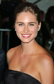 Lauren Bush looks classicly elegant with these pearl studs.