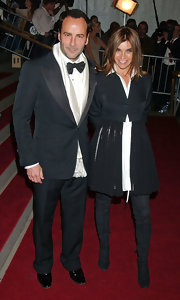Tom Ford attended the Met gala in a classic tuxedo and a silk scarf.