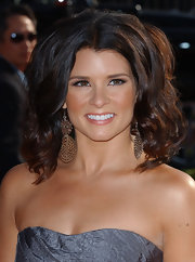 Danica Patrick wore large bronze dangle earrings to the ESPY Awards.
