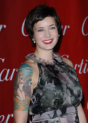 Writer Diablo Cody has a large pinup girl tattooed to her right shoulder.