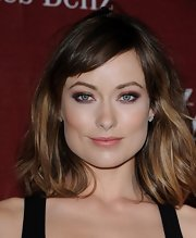Olivia Wilde wore her hair in a layered shoulder-length 'do at the 2012 Palm Springs International Film Festival.
