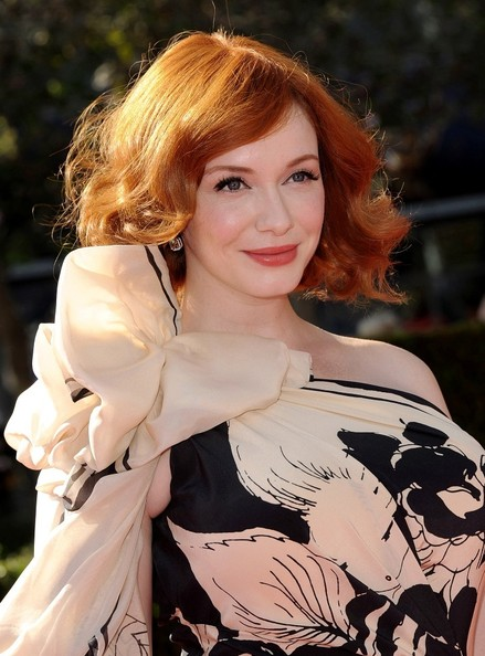 More Pics of Christina Hendricks Print Dress (1 of 11) - Christina Hendricks Lookbook - StyleBistro