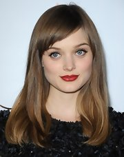 Bella Heathcote looked lovely with red lips at the G'Day USA Black Tie Gala.