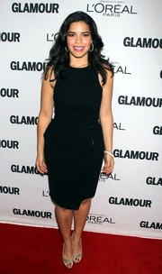 America Ferrera played it safe with this basic LBD when she attended the Glamour Women of the Year Awards.