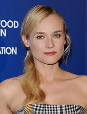 Diane Kruger's blonde hair looked stunning when pulled into a low wavy ponytail.