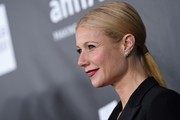 Gwyneth Paltrow opted for a sleek ponytail when she attended the amfAR Inspiration LA Gala.