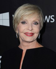 Florence Henderson sported a short hairstyle with side-swept bangs at the amfAR Inspiration LA Gala.
