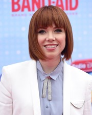 Carly Rae Jepsen made an appearance at the Radio Disney Music Awards wearing a cute bob with eye-skimming bangs.