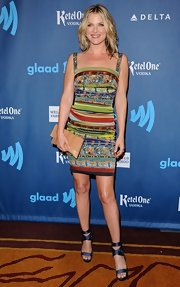 Ali Larter's patterned dress gave the actress a cool contemporary vibe on the red carpet of the GLAAD Media Awards.