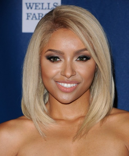 More Pics of Kat Graham Medium Straight Cut (1 of 10) - Kat Graham Lookbook - StyleBistro