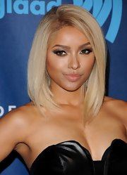 Kat Graham kept her lip color simple with just a clear gloss, so as not to overpower her sultry smoky eyes.