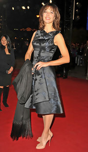 Sophie Marceau's bow-adorned peep toe pumps made a sweet statement against her dark dress.
