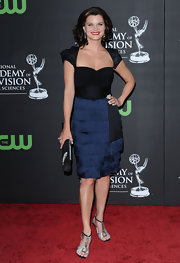 Heather Tom struck a pose in a stylish cocktail dress at the Daytime Emmy Awards.