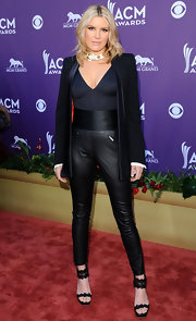 Grace Potter looked avant-garde at the Academy of Country Music Awards in these leather leggings and blazer.
