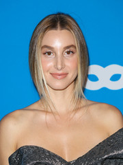 Whitney Port styled her hair into a loose center-parted ponytail for the UNICEF Masquerade Ball.