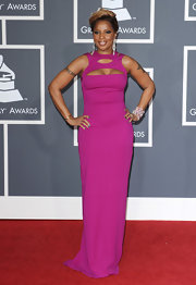Mary J. Blige looked sublime in a fuchsia cutout dress.