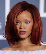Rihanna's pretty bob had lots of volume and movement at the 53rd Annual Grammy Awards.