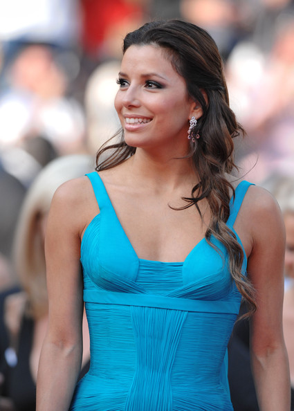 More Pics of Eva Longoria Diamond Chandelier Earrings (1 of 9) - Eva Longoria Lookbook - StyleBistro