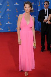 Keri Russell's pleated pink halter dress at the Emmy's was a perfect mix of sweet and sexy.