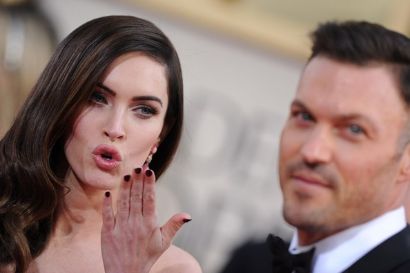 More Pics of Megan Fox Dark Nail Polish (2 of 16) - Megan Fox Lookbook - StyleBistro