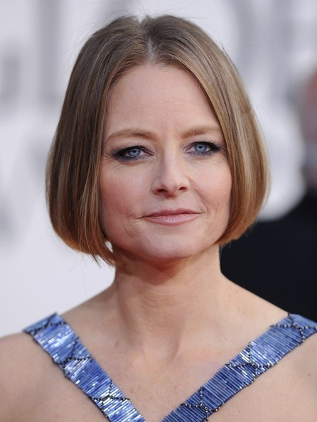 Jodie Foster has a layered bob hairstyle
