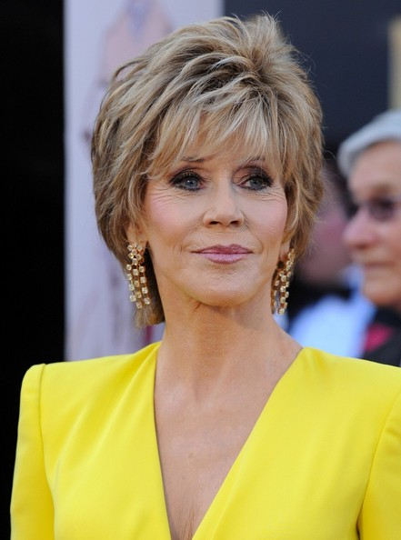 More Pics of Jane Fonda Layered Razor Cut (2 of 11) - Jane Fonda Lookbook - StyleBistro