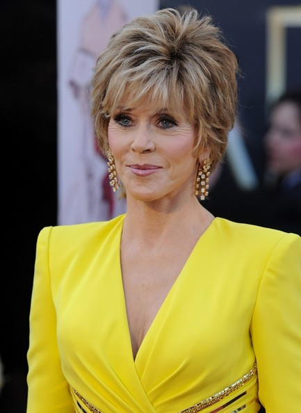 More Pics of Jane Fonda Layered Razor Cut (4 of 11) - Jane Fonda Lookbook - StyleBistro