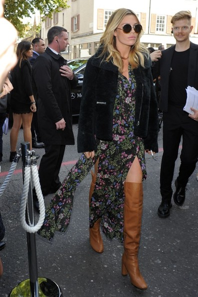 Abbey Clancy Fur Coat