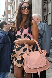 Alesha Dixon looked oh-so-chic in her oversized sunnies during a visit to the BBC Studios.