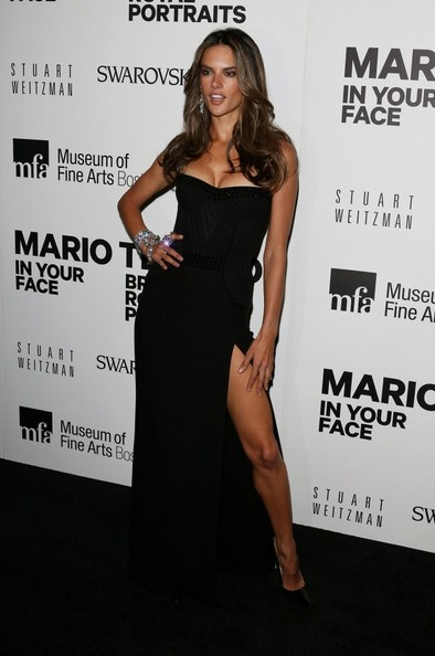 Alessandra Ambrosio Attends Testino Event in Boston