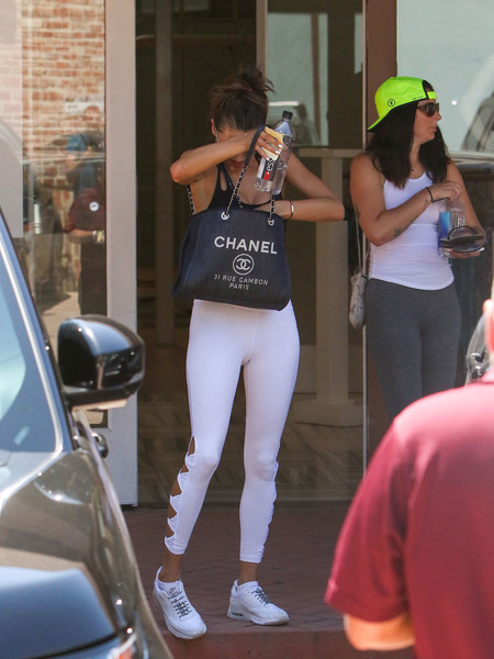 Alessandra Ambrosio stepped out in Los Angeles carrying a stylish Chanel denim bag.