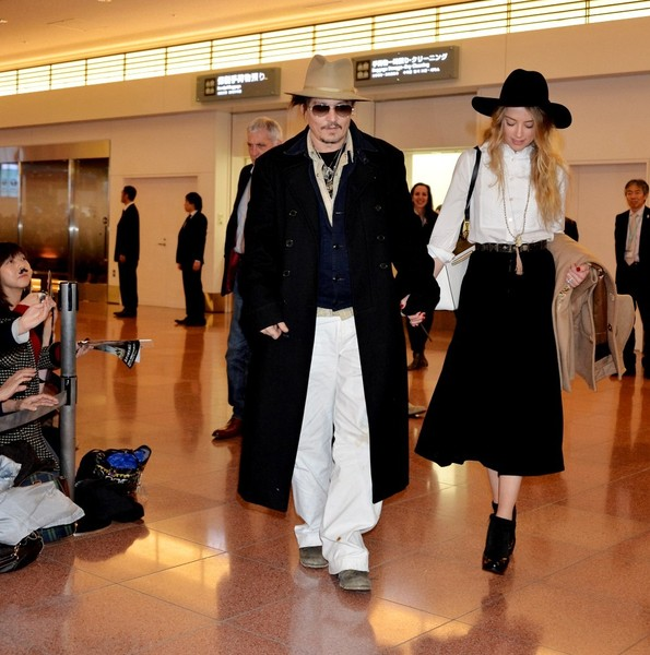 Johnny Depp and Amber Heard in Tokyo