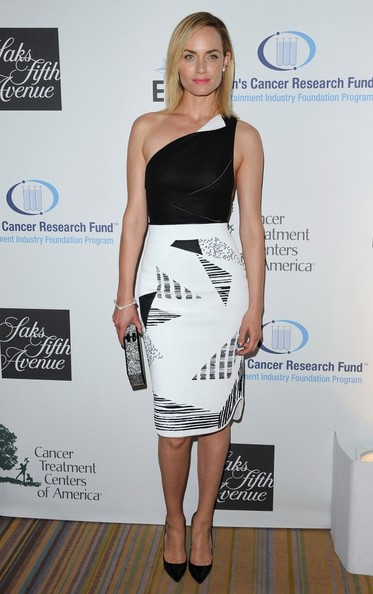Amber Valletta One Shoulder Dress