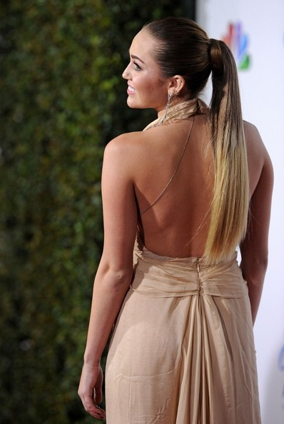 More Pics of Miley Cyrus Ponytail (1 of 26) - Miley Cyrus Lookbook - StyleBistro
