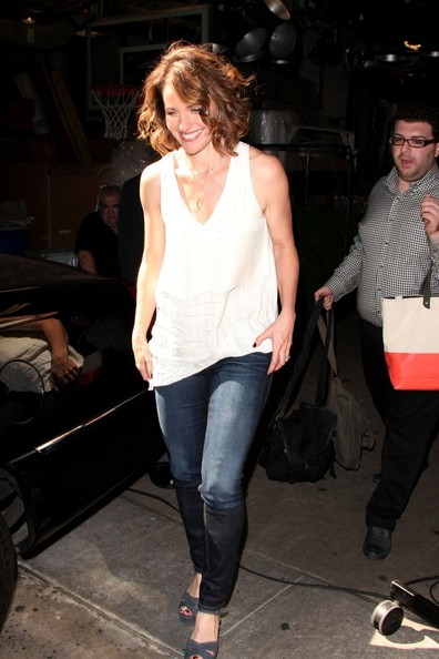 More Pics of Amy Brenneman Platform Sandals (1 of 9) - Amy Brenneman Lookbook - StyleBistro