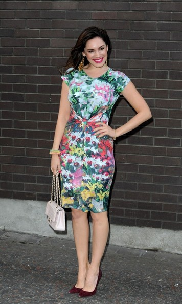 More Pics of Kelly Brook Print Dress (1 of 6) - Dresses & Skirts Lookbook - StyleBistro
