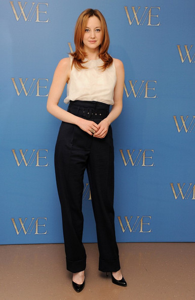 Andrea Riseborough High-Waisted Pants