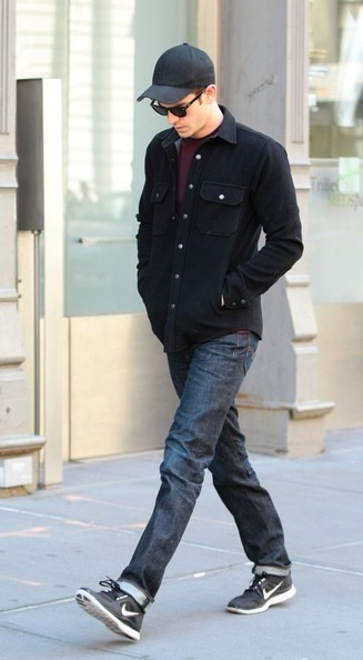 Andrew Garfield chose a pair of classic jeans for his look while out in NYC.