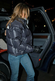 To be fair, Jennifer's black leather gloves are probably more of a necessity than a fashion statement.