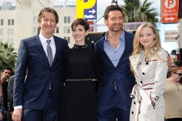 Anne Hathaway Amanda Seyfried Hugh Jackman on the Walk of Fame