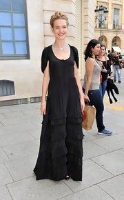 Natalia Vodianova looked like a fairy tale princess in her black tiered gown.