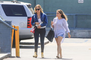 Ashley Benson was spotted out in Los Angeles rocking a pair of gold ankle boots.